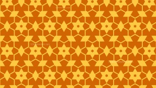 Orange Seamless Stars Pattern Background Illustrator