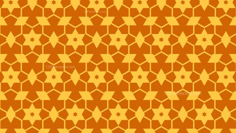 Orange Seamless Stars Pattern Background Illustrator