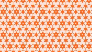 Orange Seamless Stars Background Pattern Vector Illustration