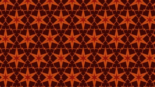 Dark Orange Star Pattern Background