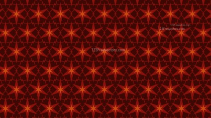 Dark Orange Star Background Pattern