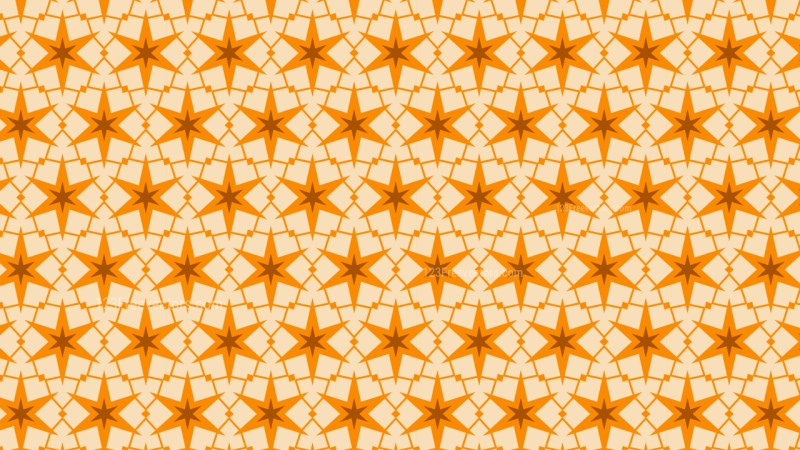 Orange Seamless Stars Pattern Background