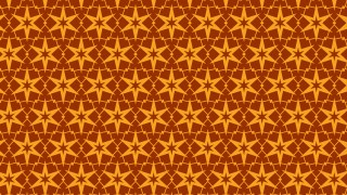Dark Orange Seamless Stars Background Pattern
