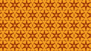 Orange Star Pattern Graphic