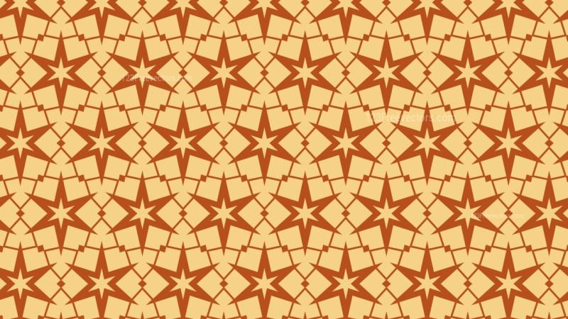Orange Star Background Pattern Design