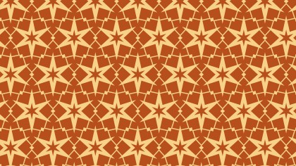Orange Seamless Star Pattern Image