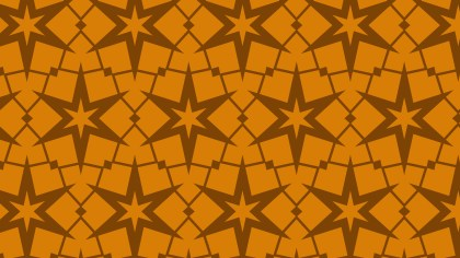 Dark Orange Seamless Star Pattern Background Vector Graphic