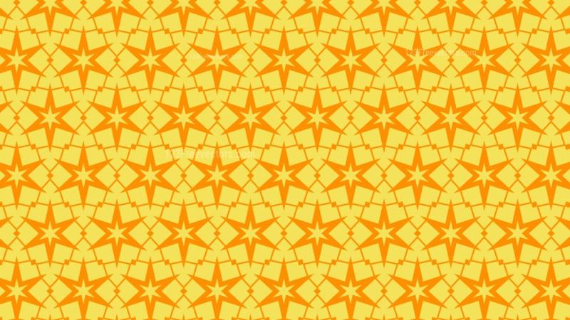 Amber Color Stars Pattern Illustrator