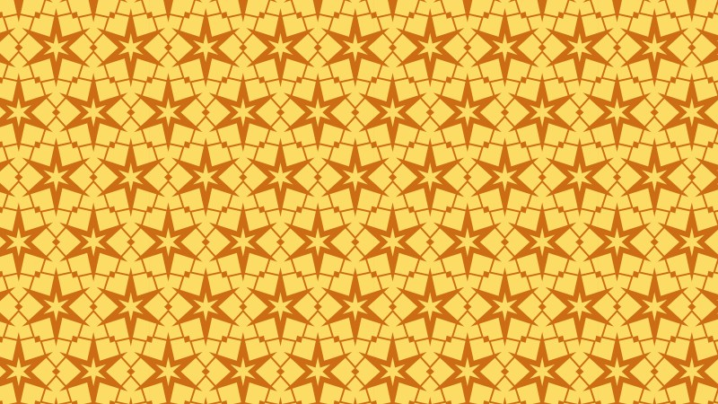 Amber Color Stars Background Pattern Vector