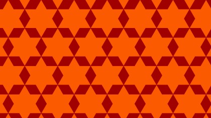 Dark Orange Star Pattern