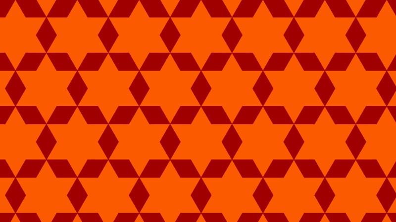 Dark Orange Star Pattern