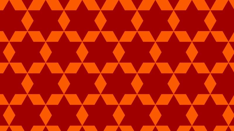 Dark Orange Star Pattern Background