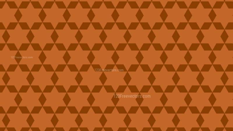 Dark Orange Stars Pattern