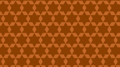 Dark Orange Stars Pattern Background