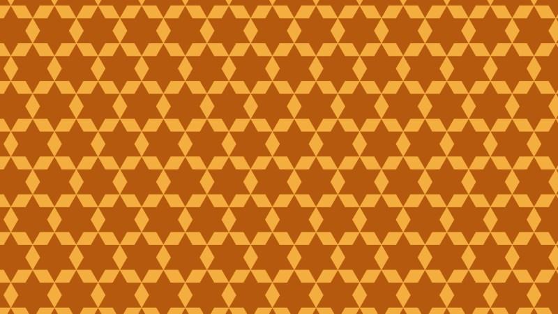 Orange Seamless Stars Pattern