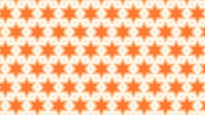 Orange Seamless Stars Background Pattern