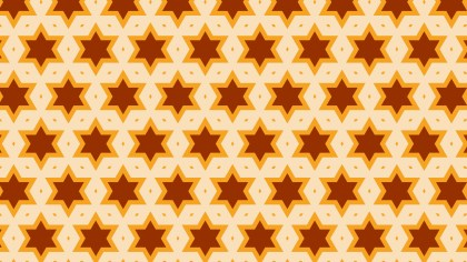Orange Star Pattern Background Vector Image