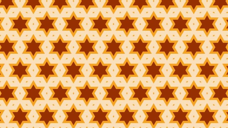 Orange Star Pattern Background Vector Image