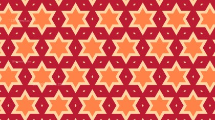 Orange Star Background Pattern Illustrator