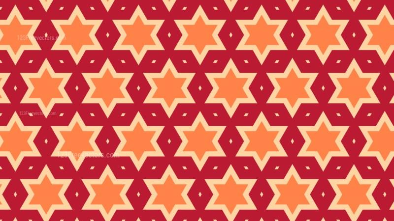 Orange Star Background Pattern Illustrator