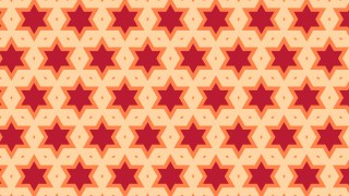 Orange Seamless Star Pattern Vector Illustration