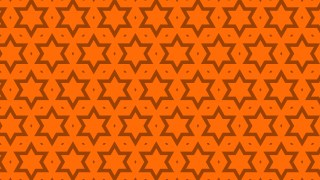 Orange Seamless Star Pattern Background Vector