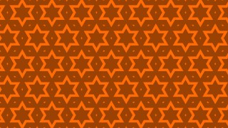 Dark Orange Seamless Star Background Pattern Vector Art