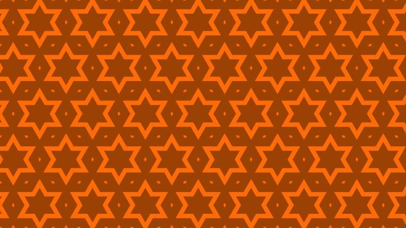 Dark Orange Seamless Star Background Pattern Vector Art