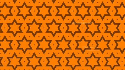 Orange Stars Pattern Graphic