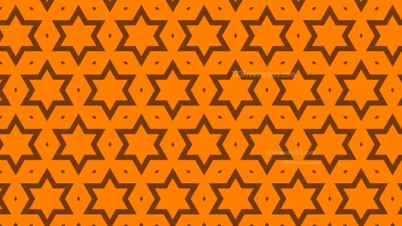 Orange Stars Pattern Graphic