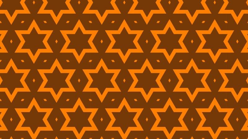 Dark Orange Stars Pattern Background Illustration