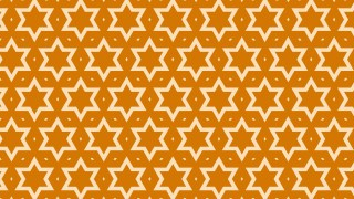 Orange Seamless Stars Pattern Image