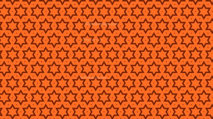 Orange Seamless Stars Pattern Background Vector Graphic