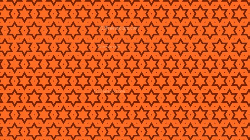Orange Seamless Stars Pattern Background Vector Graphic