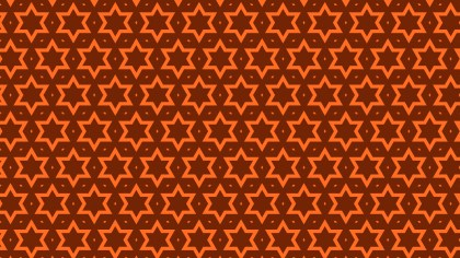 Dark Orange Seamless Stars Background Pattern Vector Image
