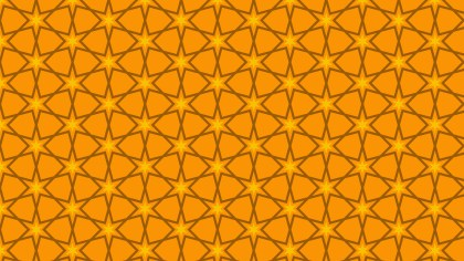 Orange Seamless Star Pattern
