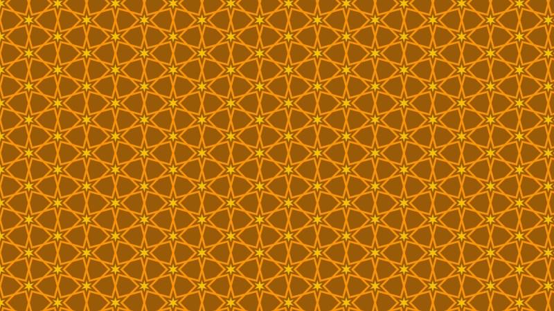 Dark Orange Seamless Star Pattern Background