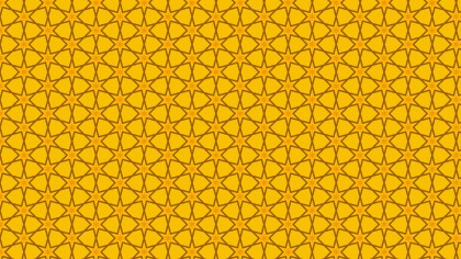 Amber Color Seamless Star Background Pattern