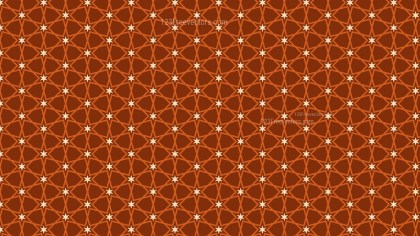 Dark Orange Seamless Stars Pattern Background