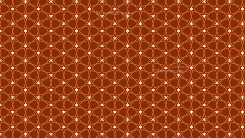 Dark Orange Seamless Stars Pattern Background