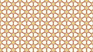 Orange Star Background Pattern Graphic