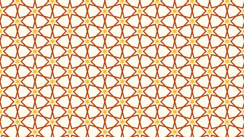 Orange Star Background Pattern Graphic