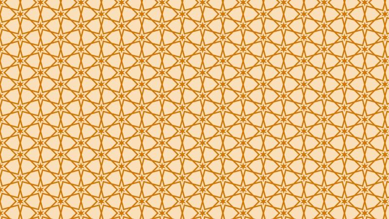 Light Orange Seamless Star Background Pattern Image