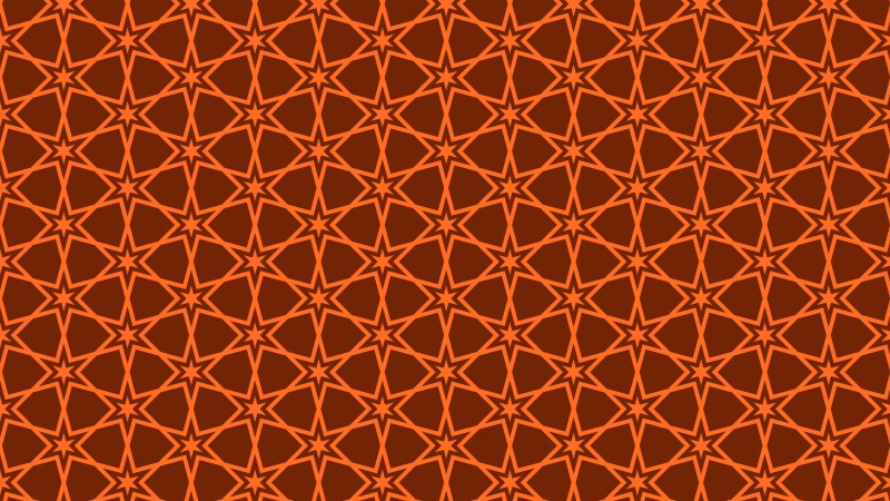 Dark Orange Stars Background Pattern Illustrator