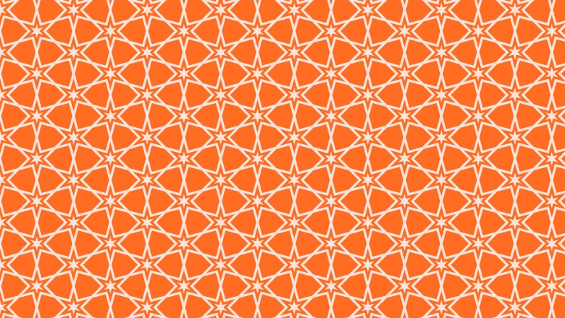 Orange Seamless Stars Pattern Background Vector