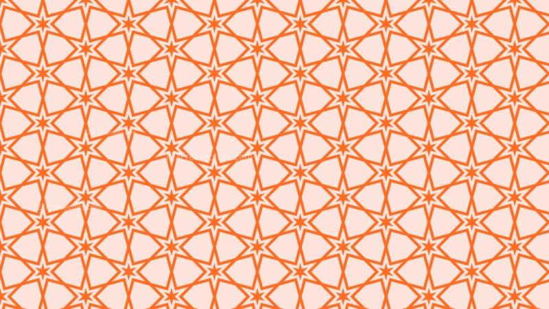 Orange Seamless Stars Background Pattern Vector Art