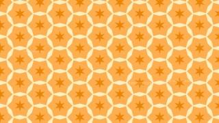 Orange Seamless Star Pattern