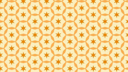 Light Orange Seamless Star Pattern Background