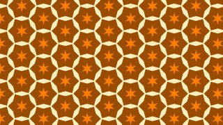 Orange Seamless Star Background Pattern