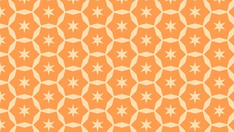 Light Orange Stars Pattern Background